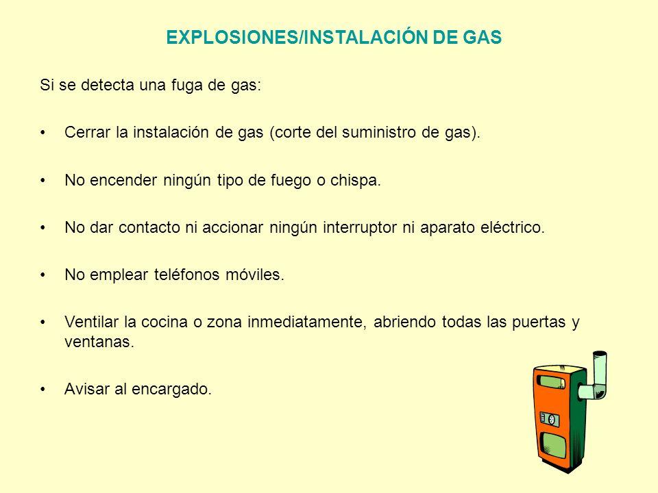 EXPLOSIONES/INSTALACIÓN DE GAS