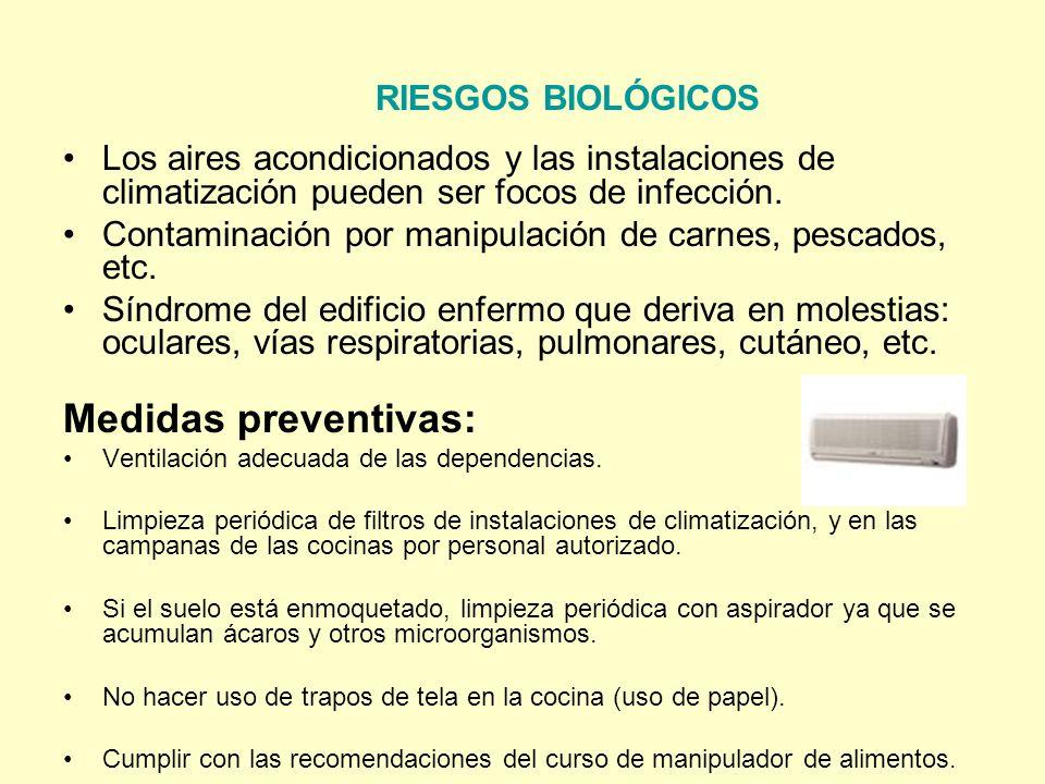 RIESGOS BIOLÓGICOS Medidas preventivas: