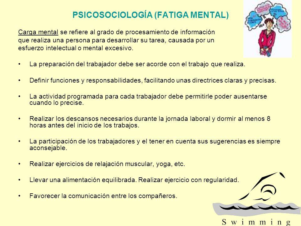 PSICOSOCIOLOGÍA (FATIGA MENTAL)