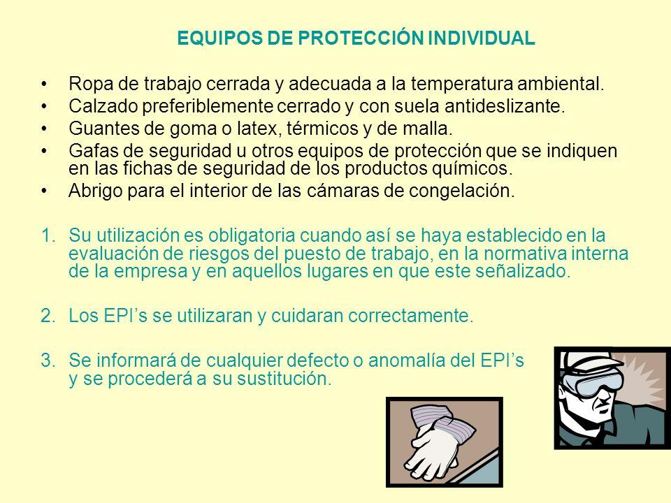EQUIPOS DE PROTECCIÓN INDIVIDUAL