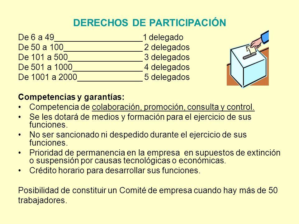 DERECHOS DE PARTICIPACIÓN