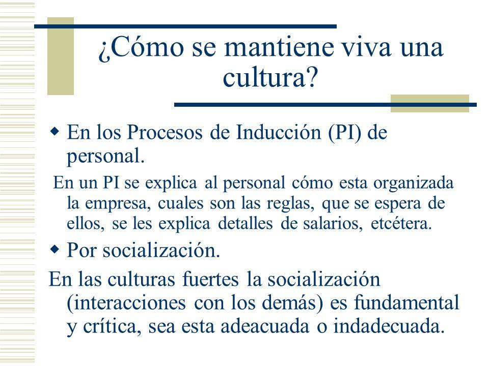¿Cómo se mantiene viva una cultura