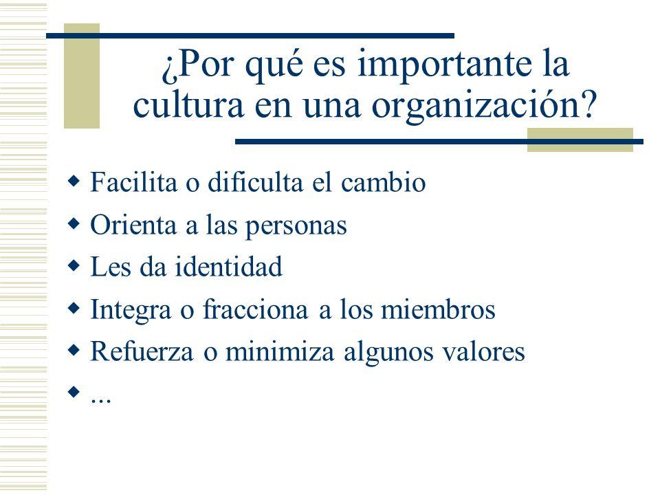 ¿Por qué es importante la cultura en una organización