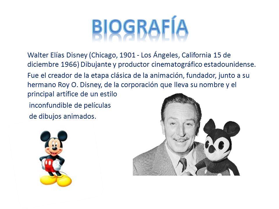 La Verdadera Historia De Walt Disney Sus Dibujos Y: Walter Elias Disney Biografias Y Vidas Com Walt Disney Ppt