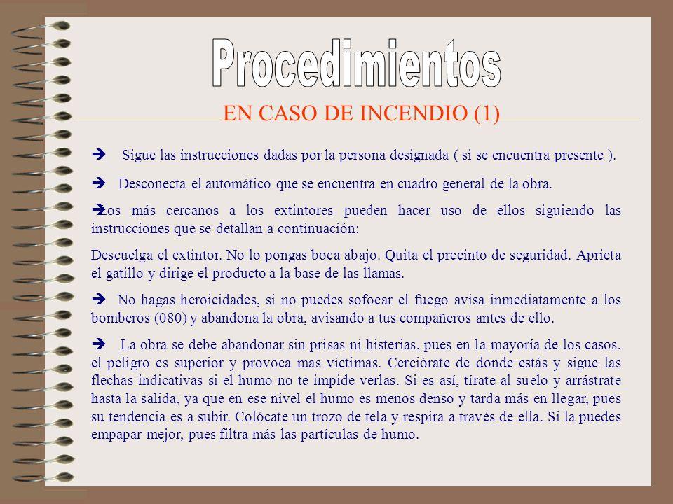 Procedimientos EN CASO DE INCENDIO (1)