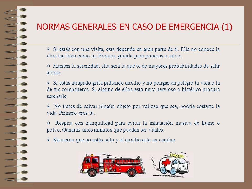 NORMAS GENERALES EN CASO DE EMERGENCIA (1)