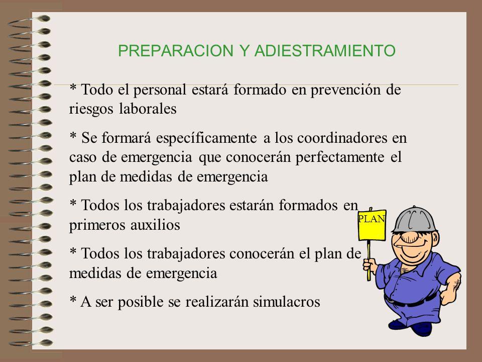 PREPARACION Y ADIESTRAMIENTO