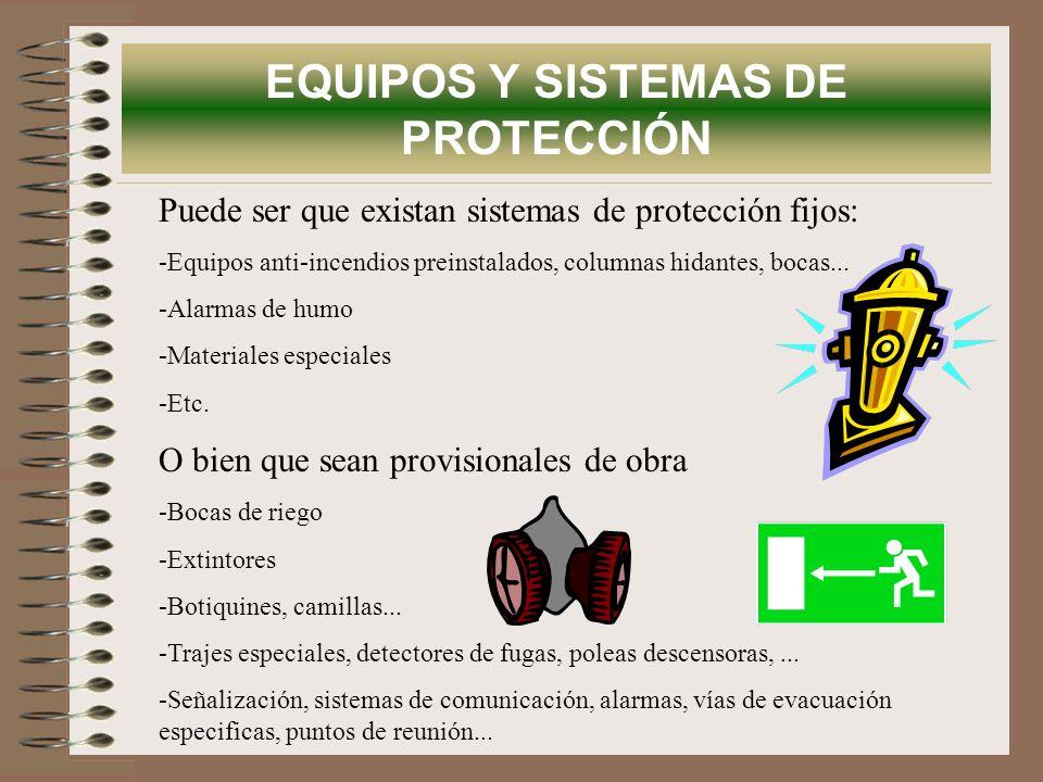EQUIPOS Y SISTEMAS DE PROTECCIÓN