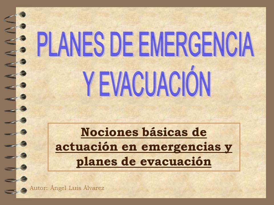 Nociones básicas de actuación en emergencias y planes de evacuación