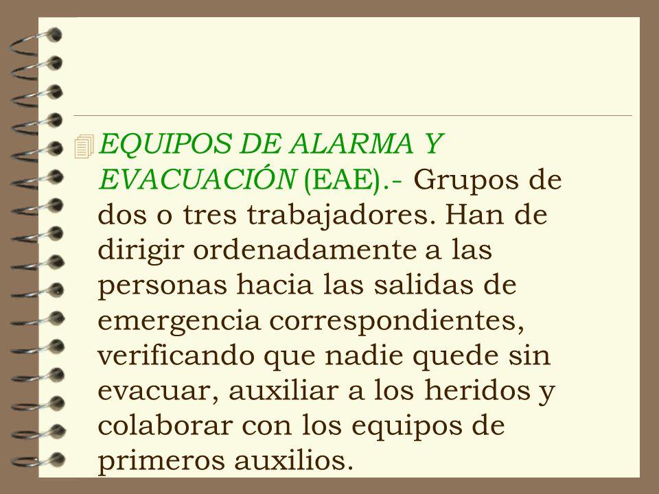 EQUIPOS DE ALARMA Y EVACUACIÓN (EAE)