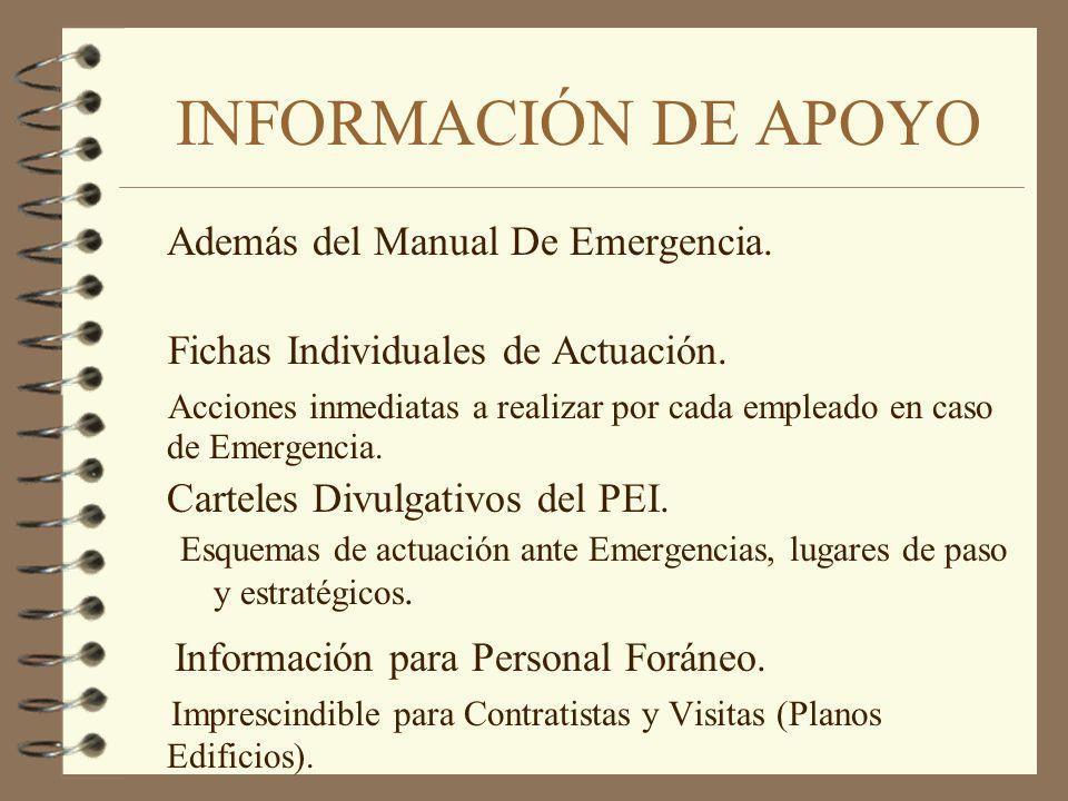 INFORMACIÓN DE APOYO Información para Personal Foráneo.