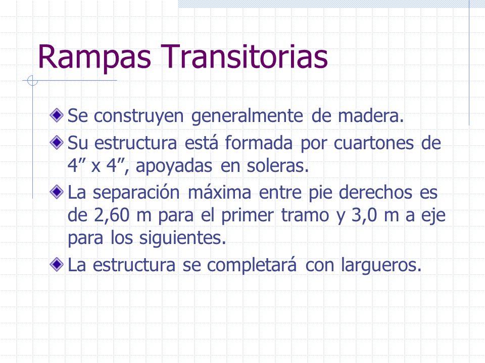 Rampas Transitorias Se construyen generalmente de madera.