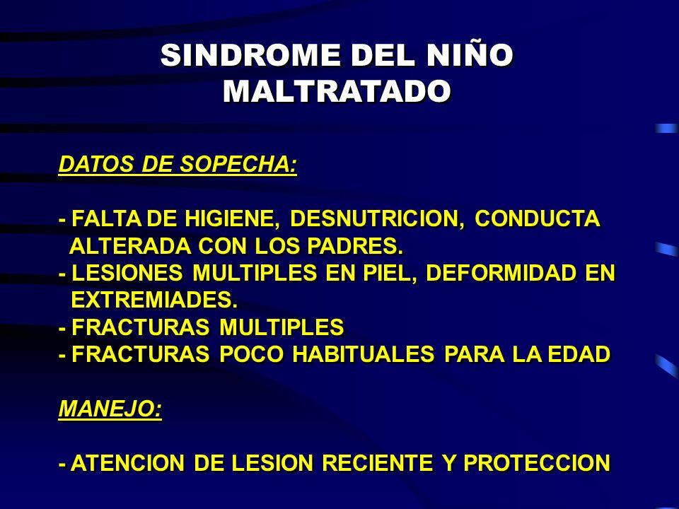 SINDROME DEL NIÑO MALTRATADO