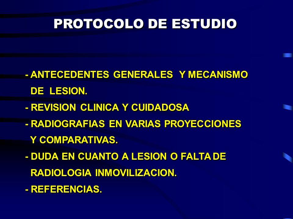 PROTOCOLO DE ESTUDIO - ANTECEDENTES GENERALES Y MECANISMO DE LESION.