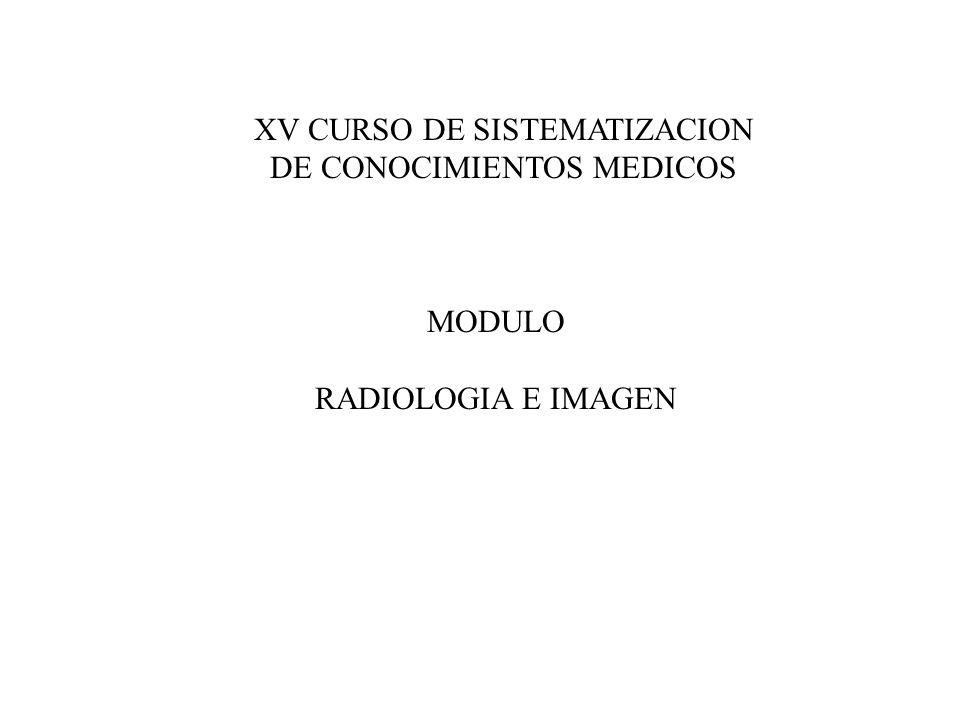 XV CURSO DE SISTEMATIZACION DE CONOCIMIENTOS MEDICOS