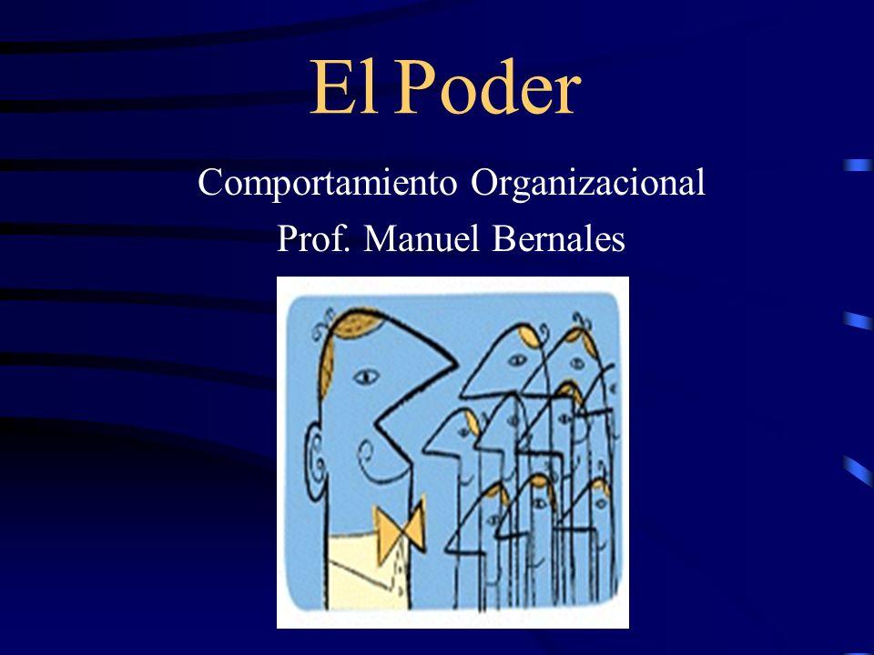 Comportamiento Organizacional Prof. Manuel Bernales