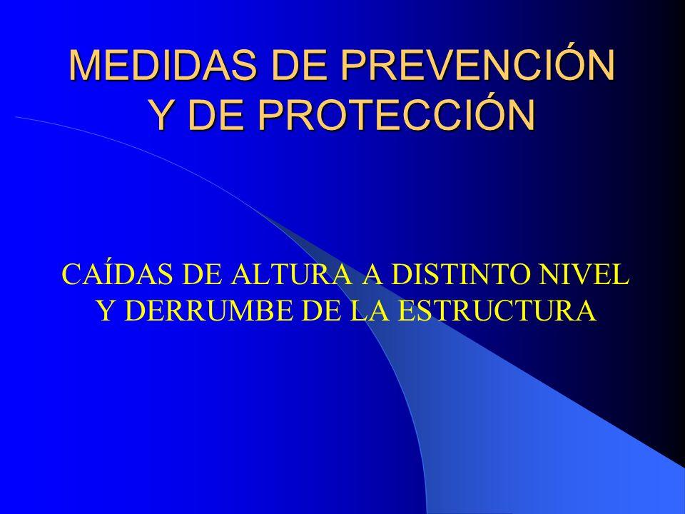 MEDIDAS DE PREVENCIÓN Y DE PROTECCIÓN