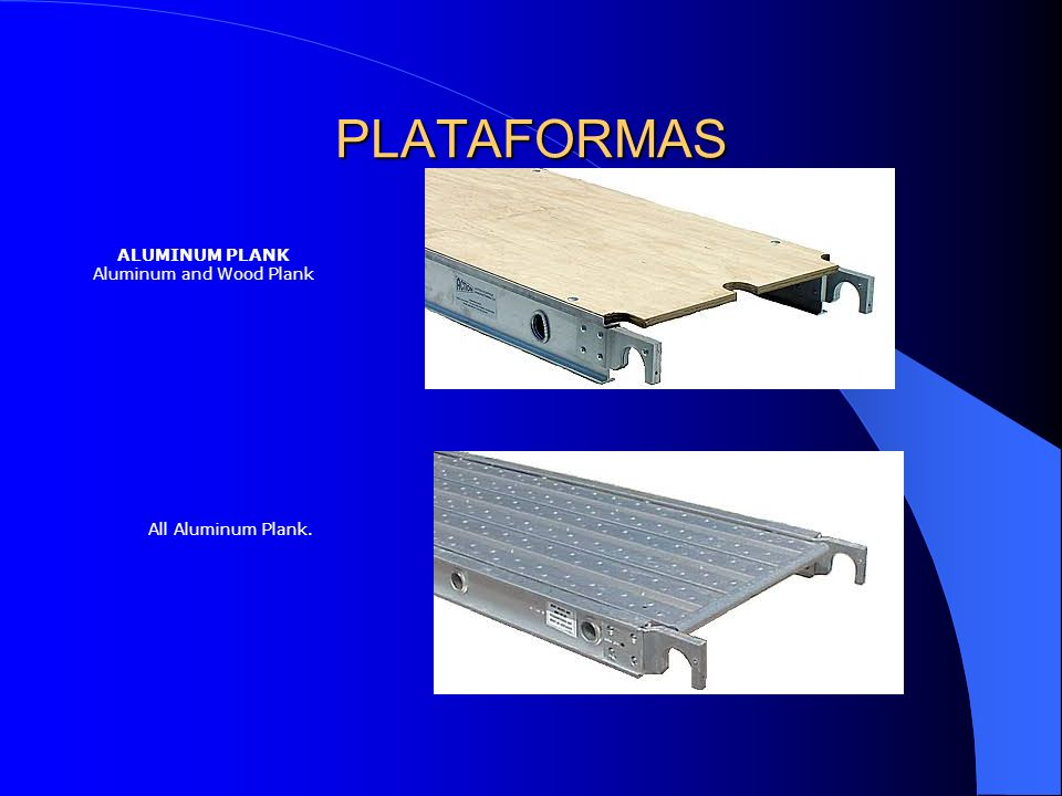 ALUMINUM PLANK Aluminum and Wood Plank