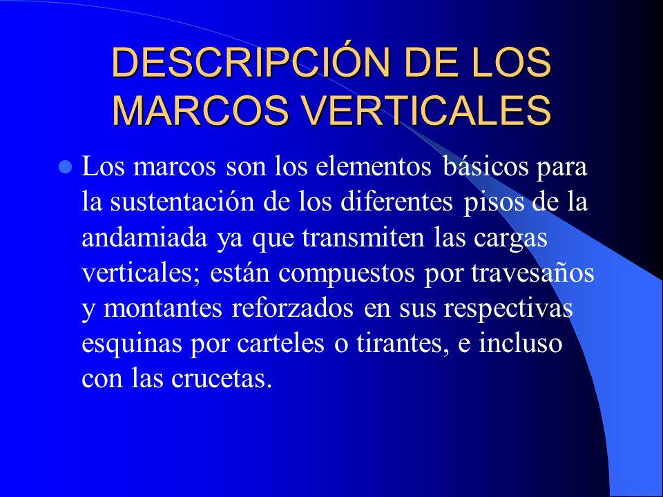 DESCRIPCIÓN DE LOS MARCOS VERTICALES