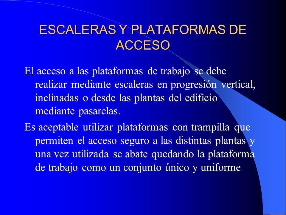 ESCALERAS Y PLATAFORMAS DE ACCESO