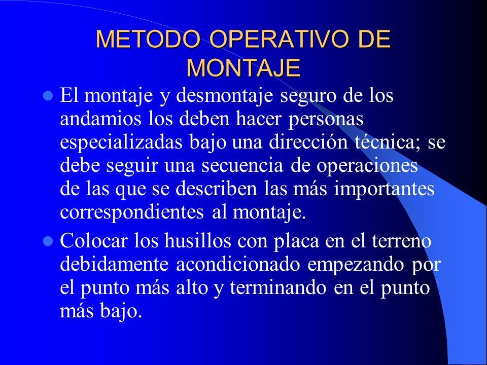 METODO OPERATIVO DE MONTAJE