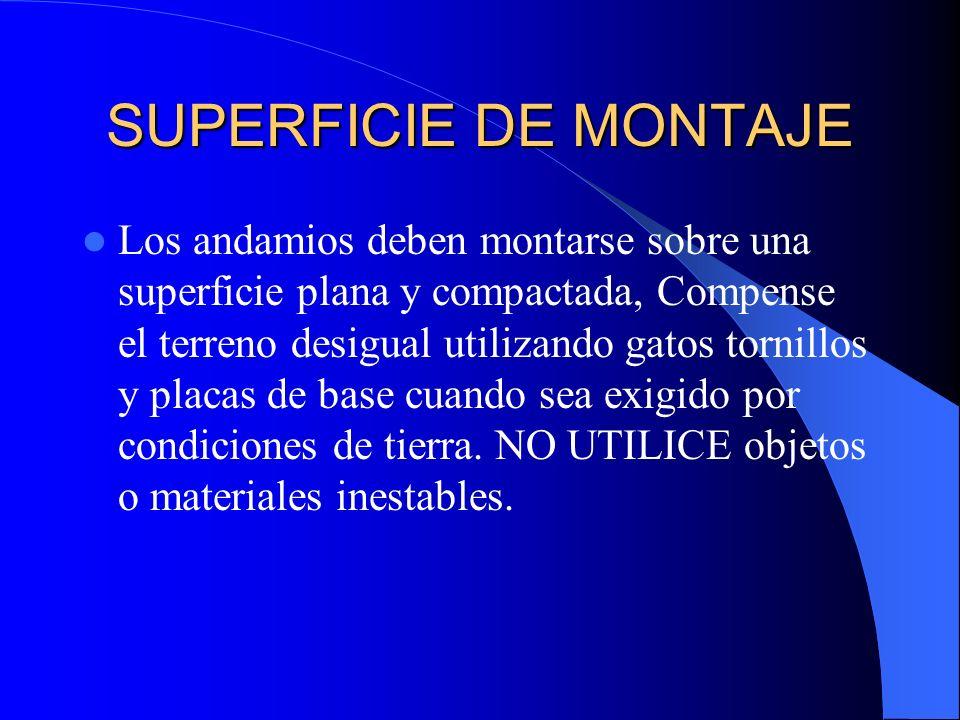 SUPERFICIE DE MONTAJE