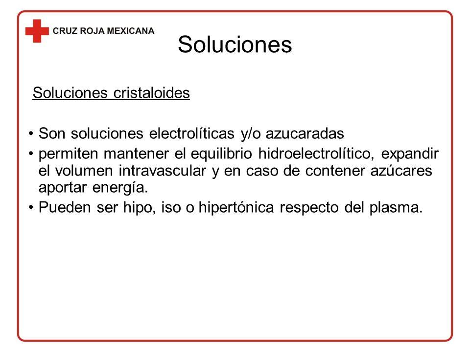 Soluciones Soluciones cristaloides