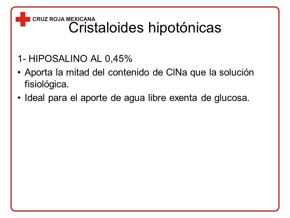 Cristaloides hipotónicas