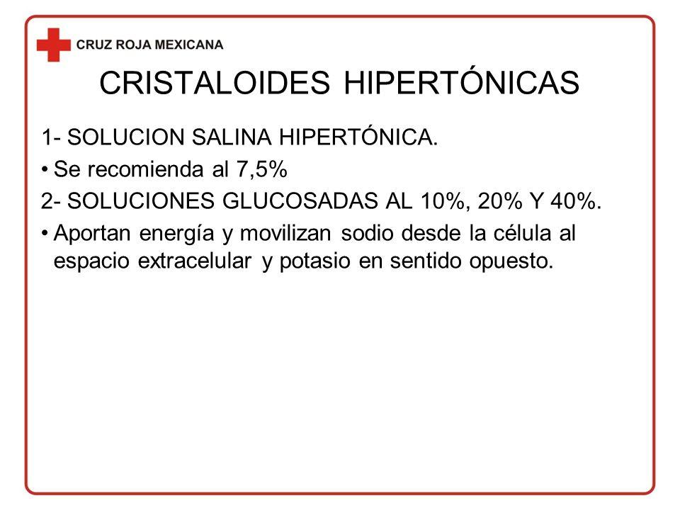 CRISTALOIDES HIPERTÓNICAS