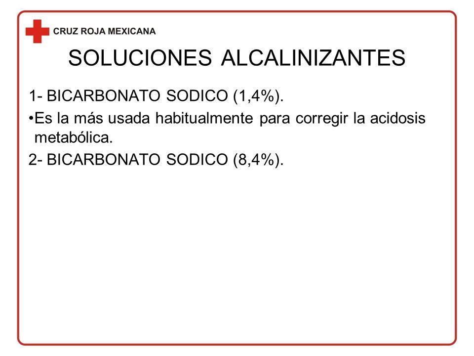 SOLUCIONES ALCALINIZANTES