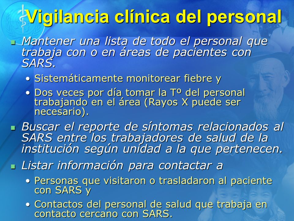 Vigilancia clínica del personal
