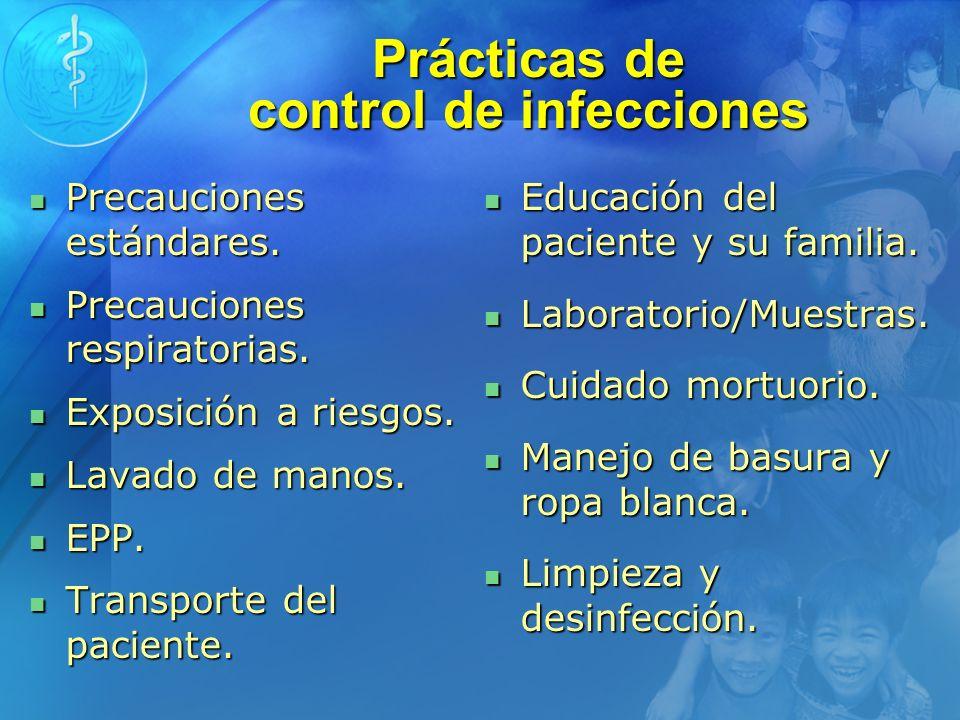 Prácticas de control de infecciones