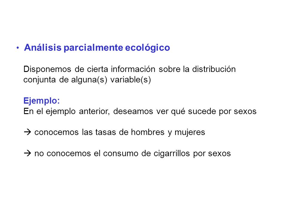 Análisis parcialmente ecológico