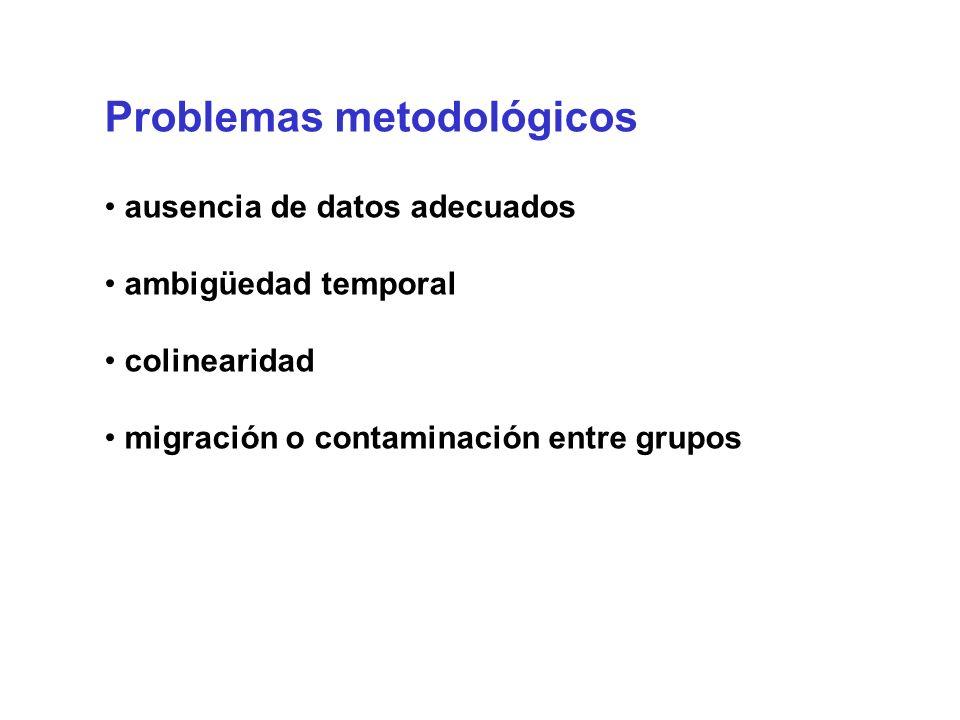 Problemas metodológicos