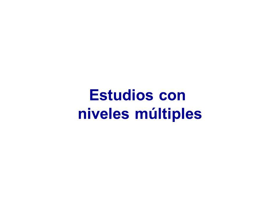 Estudios con niveles múltiples