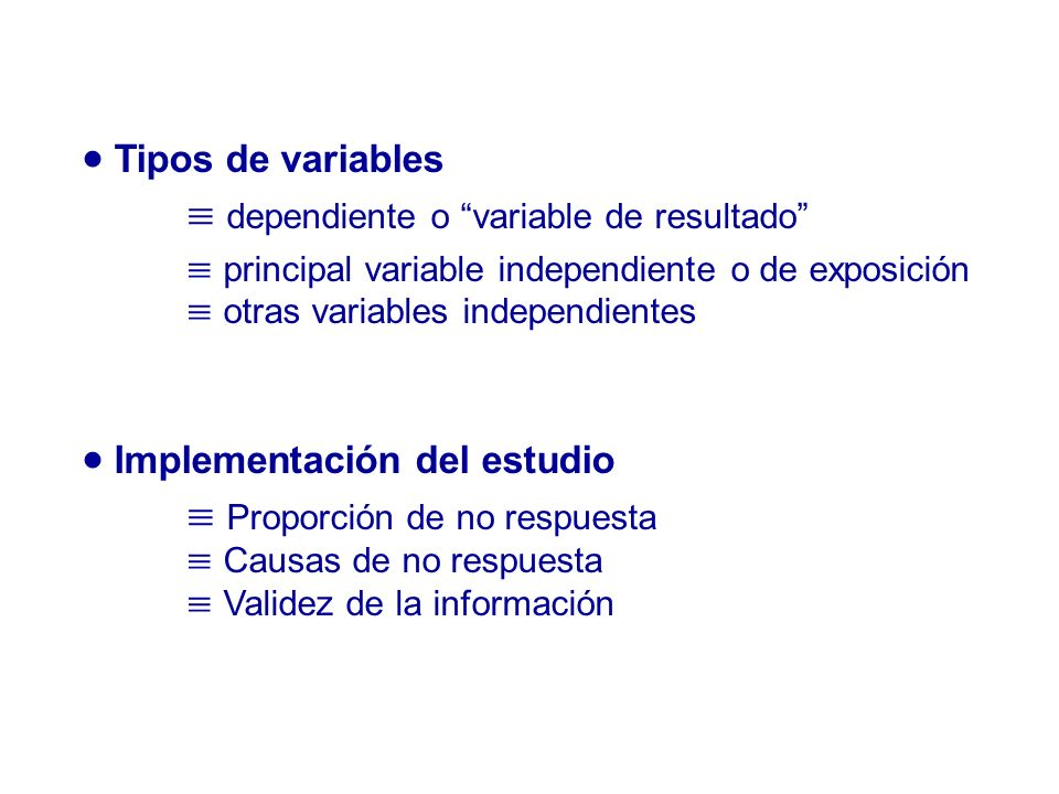 dependiente o variable de resultado