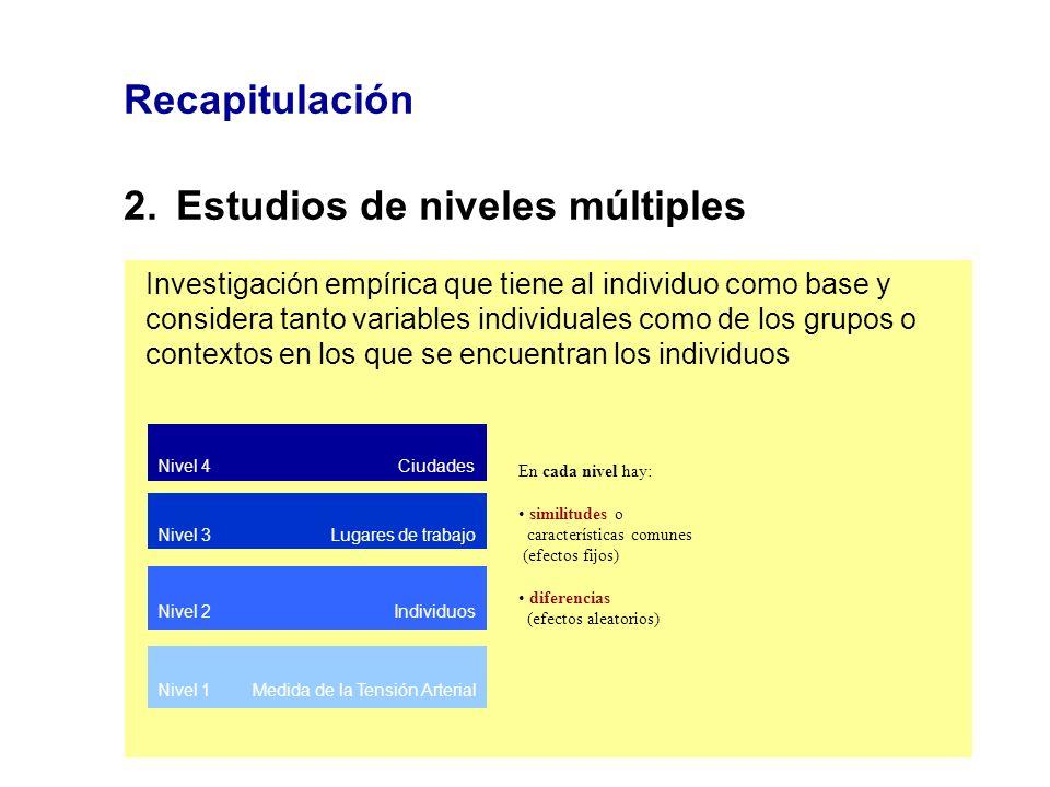 2. Estudios de niveles múltiples