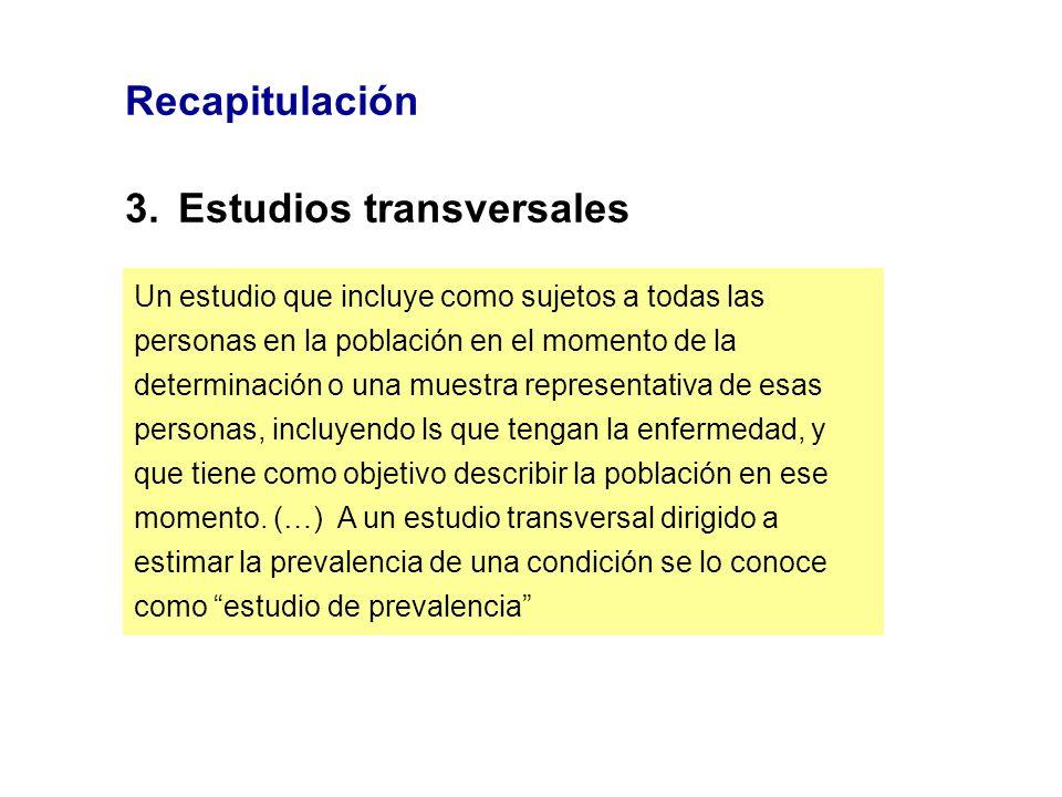 3. Estudios transversales