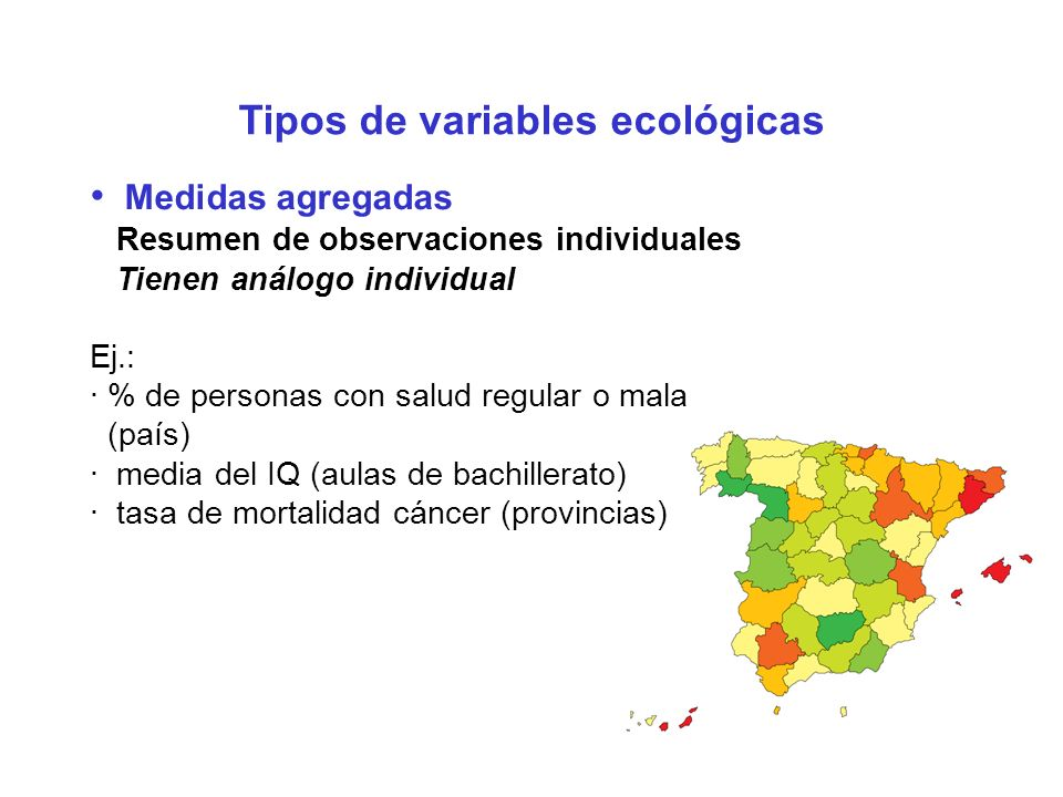 Tipos de variables ecológicas