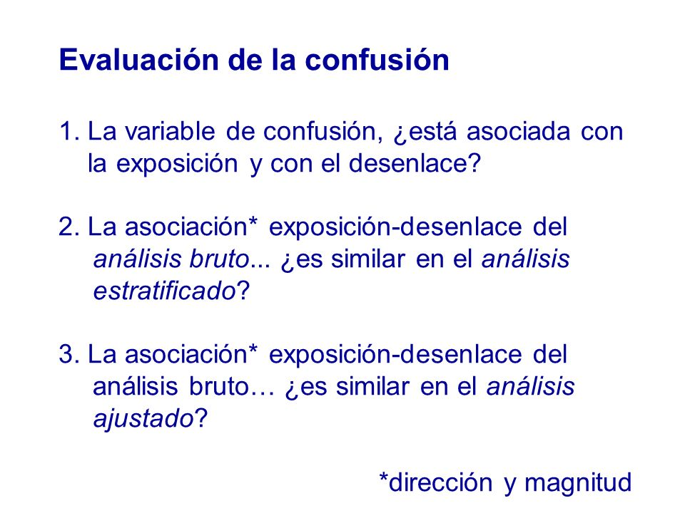 Evaluación de la confusión