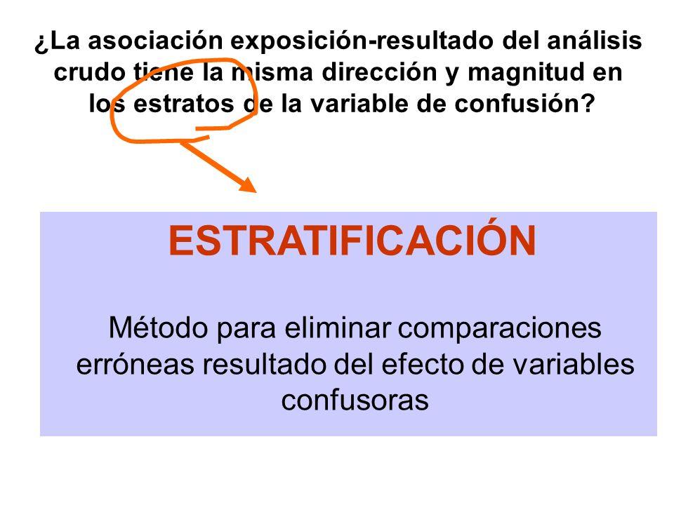 ¿La asociación exposición-resultado del análisis