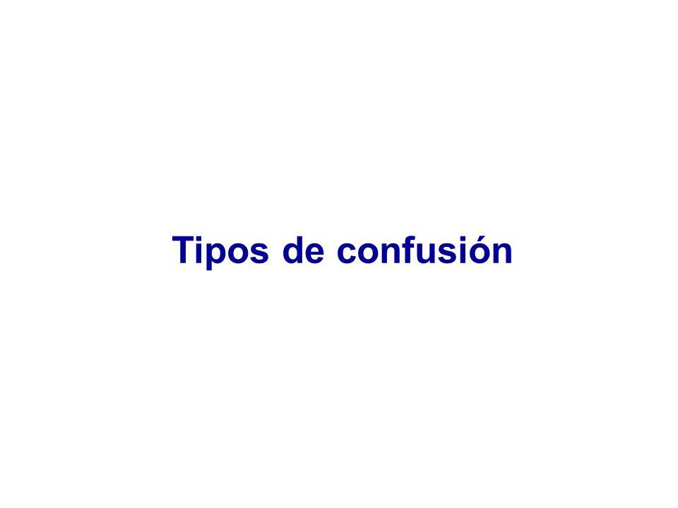Tipos de confusión