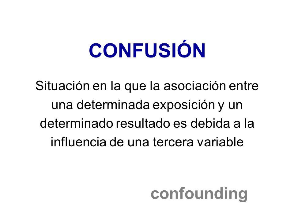 CONFUSIÓN confounding