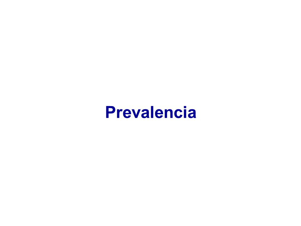 Prevalencia
