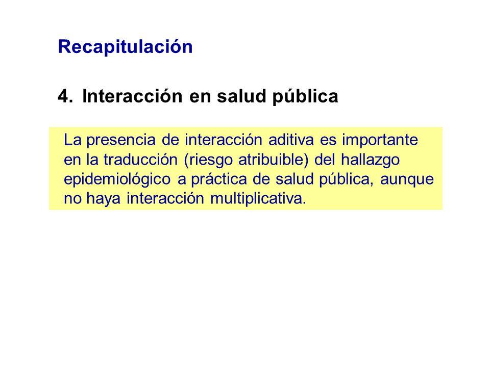4. Interacción en salud pública