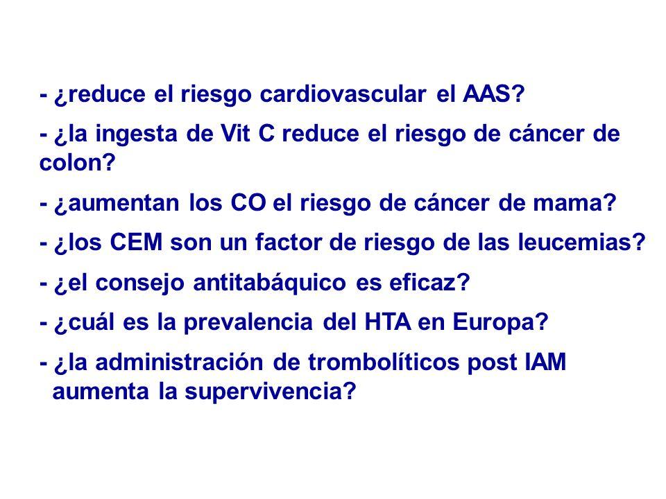 - ¿reduce el riesgo cardiovascular el AAS