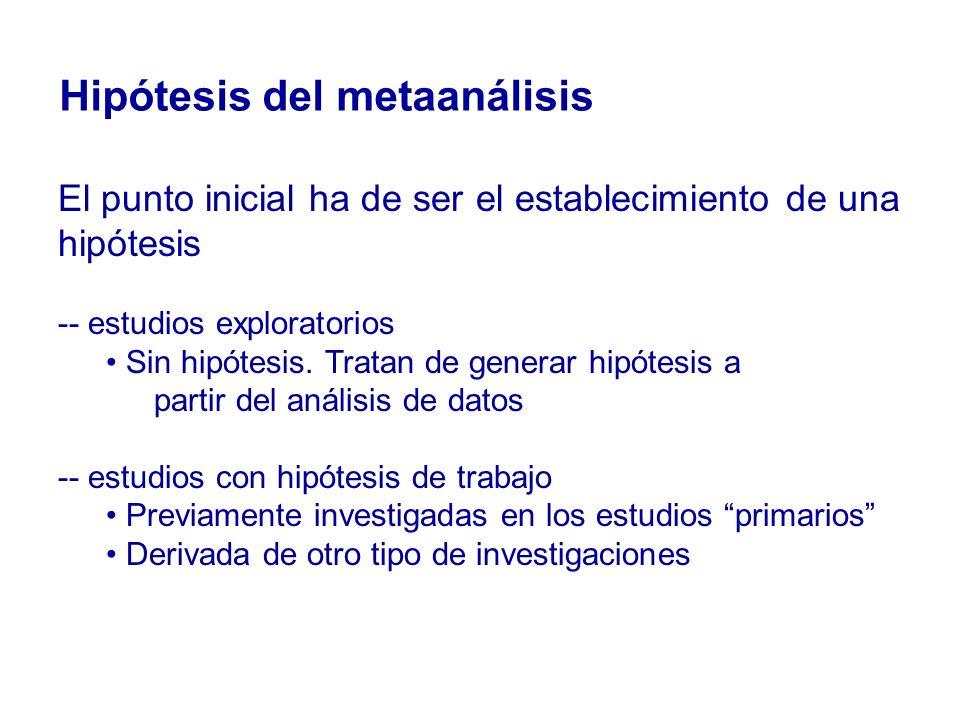 Hipótesis del metaanálisis