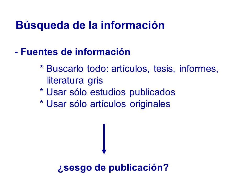 Búsqueda de la información
