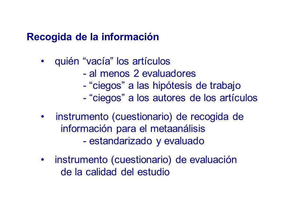 Recogida de la información