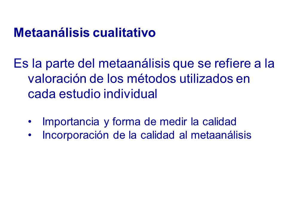 Metaanálisis cualitativo
